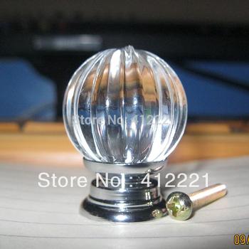 Free Shipping 10pcs Pull Handle Wardrobe Door Drawer Cupboard Dresser Knob 45mm/Crystal glass melon ball knob