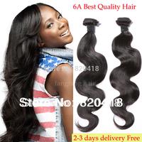 Best brazilian virgin hair body wave 3pcs lot 100% brazillian human hair weave vendor Grade 6A Top quality Free shipping