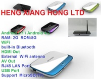 [ Free remote ]Air Mail Free Shipping,  1.6Ghz 2G RAM 8G ROM Android 4.2.2 Quad core RK3188 TV BOX CS918