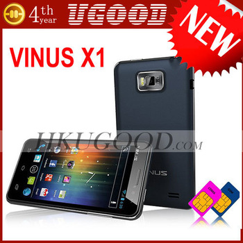 New IPS Screen Original Vinus X1 mtk6577 dual core 512MB+4GB Unlocked Android 4.0 cellphone SGpost freeshipping