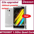 "IN STOCK JIAYU/JY G3 G3s Smart Phone MTK6589 quad core Android 4.0 1Ghz 4.5"" IPS  gorilla glass black silver gray  Freeshipping"