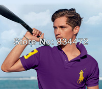 big horse logo,brand men designer short sleeve slim fit camisas polo shirt,Tops & Tees