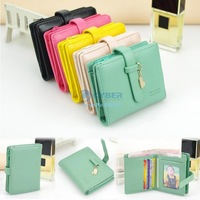 2014 New Arrival Hot Fashion Lady Women Lovely Purse Clutch Wallet Short Coin Small Bag Card Holder 5 Colors b4 20141