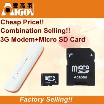 Combination Selling!! 7.2M HSUPA Driver EDGE/Gsm Wireless 3G Up to 3.5G Data Card/Modem/Dongle +Micro SD/Tf Card 8G/16G/32G