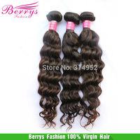 "Wig Human hair Peruvian Virgin Hair More Body Weaves 3pcs/lot (12""-34"") Berrys Hair natural color#1 cheap price Hair Extension"