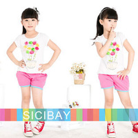 2013 Girls Shorts Summer Solid Fresh Fashion Kids Shorts,Free Shipping K0458