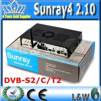 Digital Satellite Receiver Sunray4 2.10 sr4 2.10 Rev D6 Sunray HD SE SR4 800SE Triple tuner Enigma2 DVB S(S2)/C/T 300Mbps WIFI