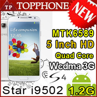 Star S4 I9500 i9502 MTK6589 Air Gesture Scale 1 Quad core Android 4.2 5 INCH PHONE 3G mtk 6589 N9500 Free shipping Hebrew