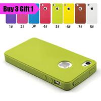 для iPhone 4 и 4S конфеты цвет мягкий резиновый TPU чехол с пыленепроницаемый заглушки