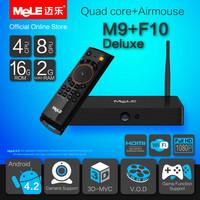 Quad Core Mini PC Android TV Box MeLE M9 Cortex A7 2GB RAM 16GB ROM 4K Video 1080P HDMI WiFi Media Player + MeLE F10 Deluxe