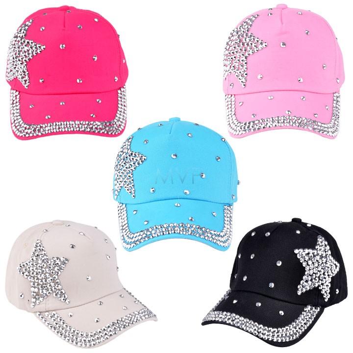 New Style 2014 Fashion Brand Baseball cap rhinestone star shaped Boy Girls snapback hat children Cap B2# 41(China (Mainland))