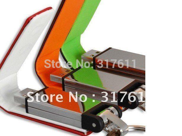 Top selling Gift ~ top leather series usb sticks 1GB 2GB 4GB 8GB 16GB leather usb flash drives ( color random )(China (Mainland))