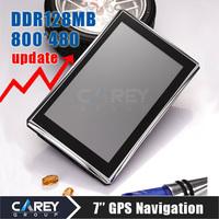 7 inch GPS navigation FM DDR128MB 800*480 car gps MTK  GPS700303