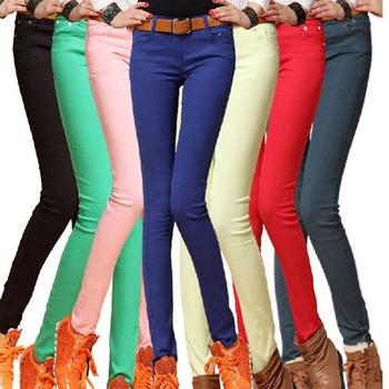Брюки Мода женщин сексуальное цвета конфеты Карандаш / Брюки / Узкие брюки с лета ...