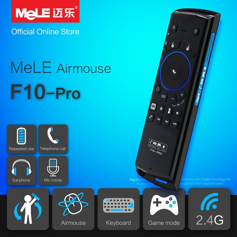 Air mouse télécommande sans fil clavier mele f10 pro 2.4 écouteur et microphone usb pour android ghz présidentutilisez gyroscope mini pc