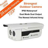 720P Megapixel HD Outdoor Waterproof P2P H.264 Ip Camera Dual Channels Network-BNC Dual Input IR Mobile Viewing KaiCong Sip1501