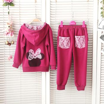2014 Brand Children Set Hooded Girl Infant Clothing Set Kids Outerwear Pant Clothes Hoodies Jackets & Coat Tracksuit Sport Sets