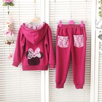 2015 Brand Children Set Hooded Girl Infant Clothing Set Kids Outerwear Pant Clothes Hoodies Jackets & Coat Tracksuit Sport Sets