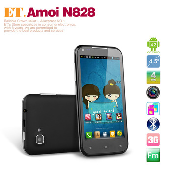 Amoi N828 Quad Core Smart Phone 4.5 inch IPS Android 4.2 MTK6589 1GB RAM 4GB WiFi GPS Bluetooth WCDMA
