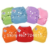 3 PCS Lot Size Adjustable Fits 3-13KG Reusable Baby Cloth Diaper Nappy 7 Colors super soft  tensile strength permeability