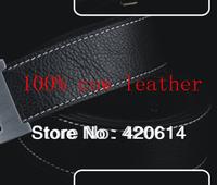 Free Shipping + Hot Sell Designer Brand Mens Belt, 100% Genuine Leather Fashion Belt Men Waist Luxury Belts Alloy Buckle H01,H02
