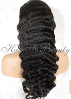 "Super Wavy 100%Indian virgin human hair U part human hair wigs10""-26""available in stock Freeshipping"
