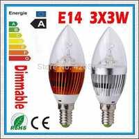 Free shipping Dimmable E14 E27 E12 B22 6W 9W 12W 15W LED Candle Light LED bulb lamp LED spot Light