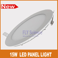 Free shipping 15W round LED flat panel light warm 6inch recessed ceiling lamps