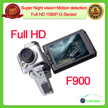 2013 HOT! F900LHD Car DVR Camera 1080P F900 car dvr 2.5'' LCD Night Vision Car black box Free shipping Support Russian Language