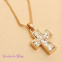 1Pc Free shipping Fashion Religious Jewelry relogio feminino Cross Pendant Necklace CN024