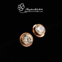 2014 Earrings For Women Brincos Brinco Free Shipping Mix Fashion Sparkling Imitation Rose Titanium Earring Stud Brief