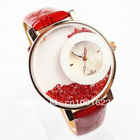 HOT SALE! TOP Quality/Free Shipping Watch G Female Table Fashion Leather Strap with Large Dial set Wrist Watch