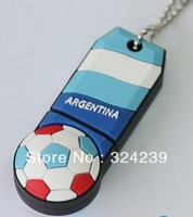 Argentina's World Cup ball suit key card USB Flash drive 2.0/4 gb, 8 gb, 16 gb and 32 gb/car/key/cartoon/memory stick