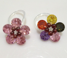Fashion Lady s Cute Toe Ring For Women Foot Ring Of Flower Crystal Toes Rings Cubic