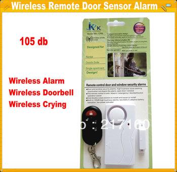 Free Shipping   Wireless Remote Control Sensor Entry Burglar Alarm Bell For Door Window
