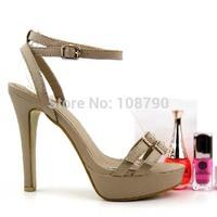 2014 Summer Shoes Ankle Strap High Heels Sandals For Women Sexy Thin Heels Stilettos Platform Shoes Woman Female Footwear