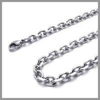 "---Min.Order $10--- 75cm 30"" S.Steel 4-facet Cross Chain of Different Thickness,Fadeless, Anti-allergy, Free Shipping"