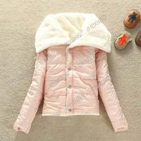 2013 Hot sale Fashion Korea Women's Big Lapel Winter Warmer Lammy Coat Jacket Outwear 3 Colors 7747