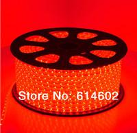 Free shipping 220v 3528  LED strip Waterproof IP65 60LEDs/m led Strip Light + plug +retaining clip