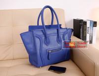 Hot selling!! 2014 New arrival A++++ put in carton PU leather smiley bag smile big handbag shoulder bag hardware