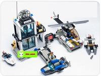 Enlighten child 6726 DIY Educational Police Stations 536 pcs building block sets,models & building toy kits