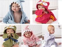 RetailWholesale boy girl Animal Baby bathrobe/baby hooded bath towel/kids bath terry children infant bathing/baby robe HoneyBaby