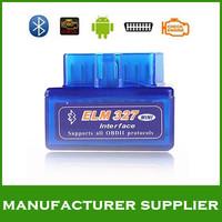 Lowest price 2014 high quality V1.5 Super mini elm 327 Bluetooth OBDii / OBD2 Wireless Mini elm327 Free Shipping