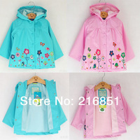 2014 spring autumn girls Windcoat New Hooded windcheater topolino trench outerwear for baby/children's/kids mouse jackets TA1
