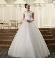 wedding dresses 2014 lace applique wedding gown bridal dress crystal wedding dresses free shipping vestidos