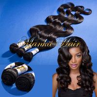 Unprocessed 100% Virgin body Wavy  Human Brazilian Hair Extensions Body Wave 1b# 1 Bundles per Lot