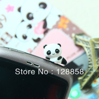 Free Shipping 12pcs/lot Smile Panda Anti Dust Plug Cellphone Earbud Stopper Cap Plugy, Cartoon Phone Accessories Gift Wholesale