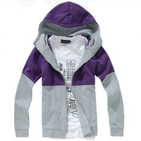 Free Shipping autumn clothing hooded coat  brand men's jackets, zipper cardigan hooded fleece sweater ,men's outwear best price!