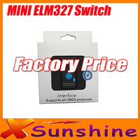 Big Discounts ELM 327 Bluetooth OBD2 / OBD II V2.1Can Bus Diagnostic Scan Tool Super Mini ELM327 Switch Support  Android Tourque