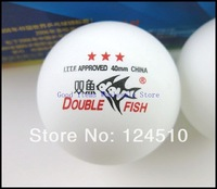 Free Shipping  Double Fish Three-Star 40mm Table Tennis Ball Ping-Pong Ball 1lot/45pcs